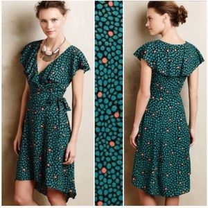 Anthropologie HD in Paris Floral Faux-Wrap Dress